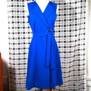 Calvin Klein, Cobalt Blue Wrap Dress